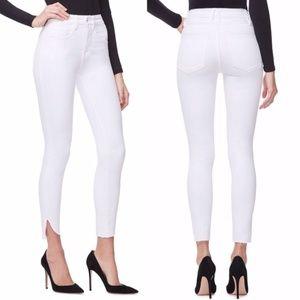 NWT Good AmericanGood Legs Crop Cascade Hem Jeans